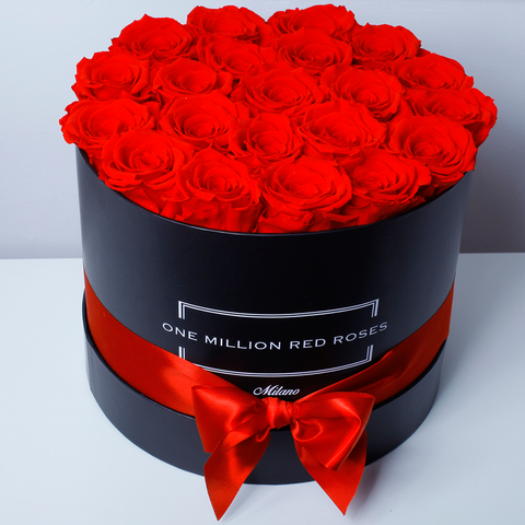 Senza Tempo - Medium Box - Rose Rosse - Scatola Nera