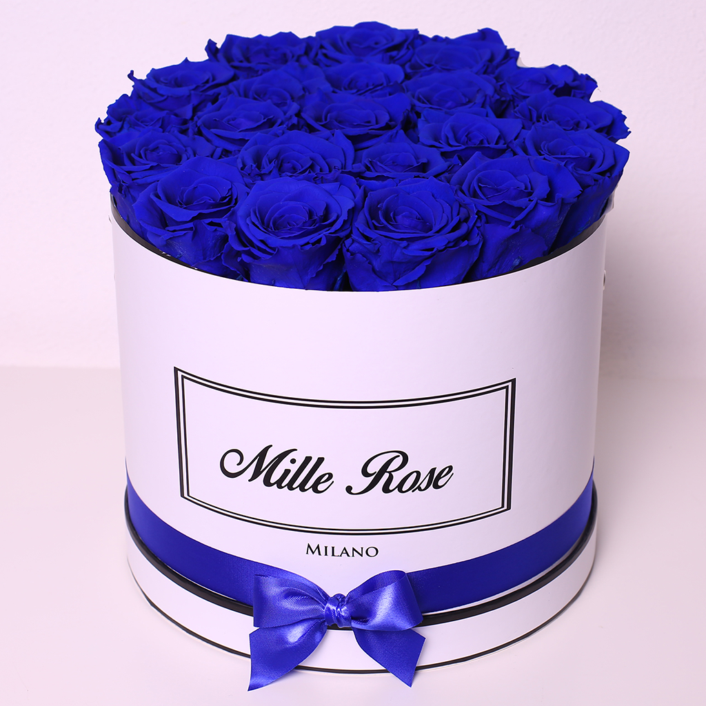 Senza Tempo - Mille Rose - Medium Box - Rose Blu - Scatola Bianca