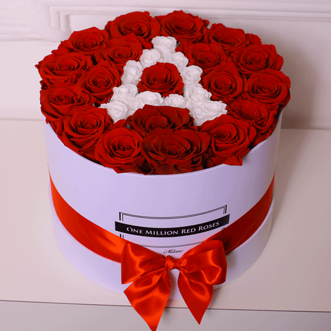 Senza Tempo - Custom Collection - Medium Box - Rose Rosse - Scatola Bianca
