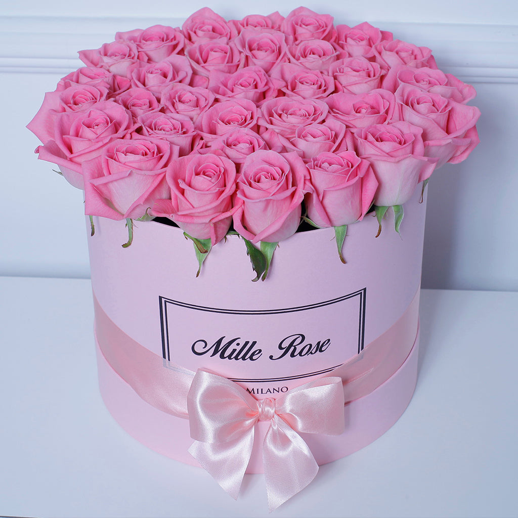 Mille Rose Collection - Medium Box - Rose Rosa - Scatola Rosa