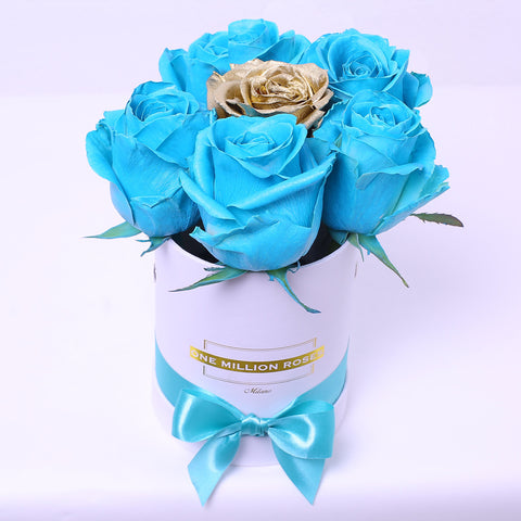 Classic Collection - Mini Box - Rosa Tiffany e Oro - Scatola Bianca