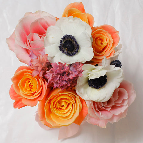 Mille Rose Collection - Mini Box - Rose Mix Anemoni - Scatola Bianca
