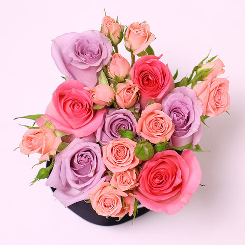 Mille Rose Collection - Mini Box - Rose Mix Rosa - Scatola Bianca