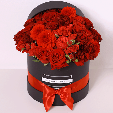 Classic Collection - Medium Box - Rose Rosse Mix  - Scatola Nera