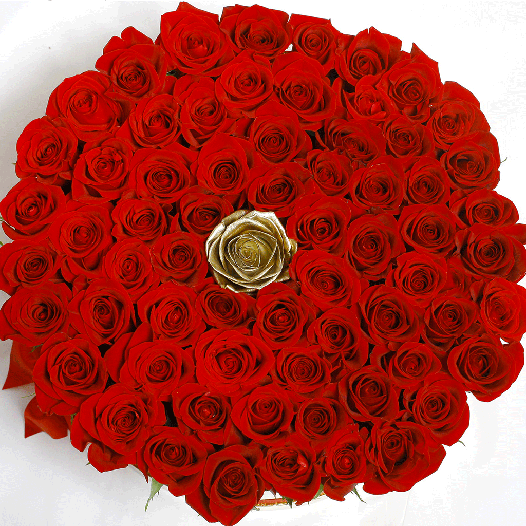 Classic Collection - One Million Box - Rose Rosse e Oro - Scatola Nera