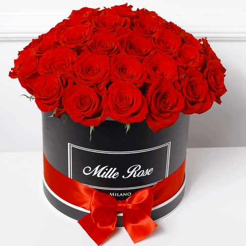 Classic Collection - Medium Box - Rose Rosse Sfera - Scatola Nera