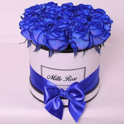 Mille Rose Collection - Small Box - Rose Blu - Scatola Bianca