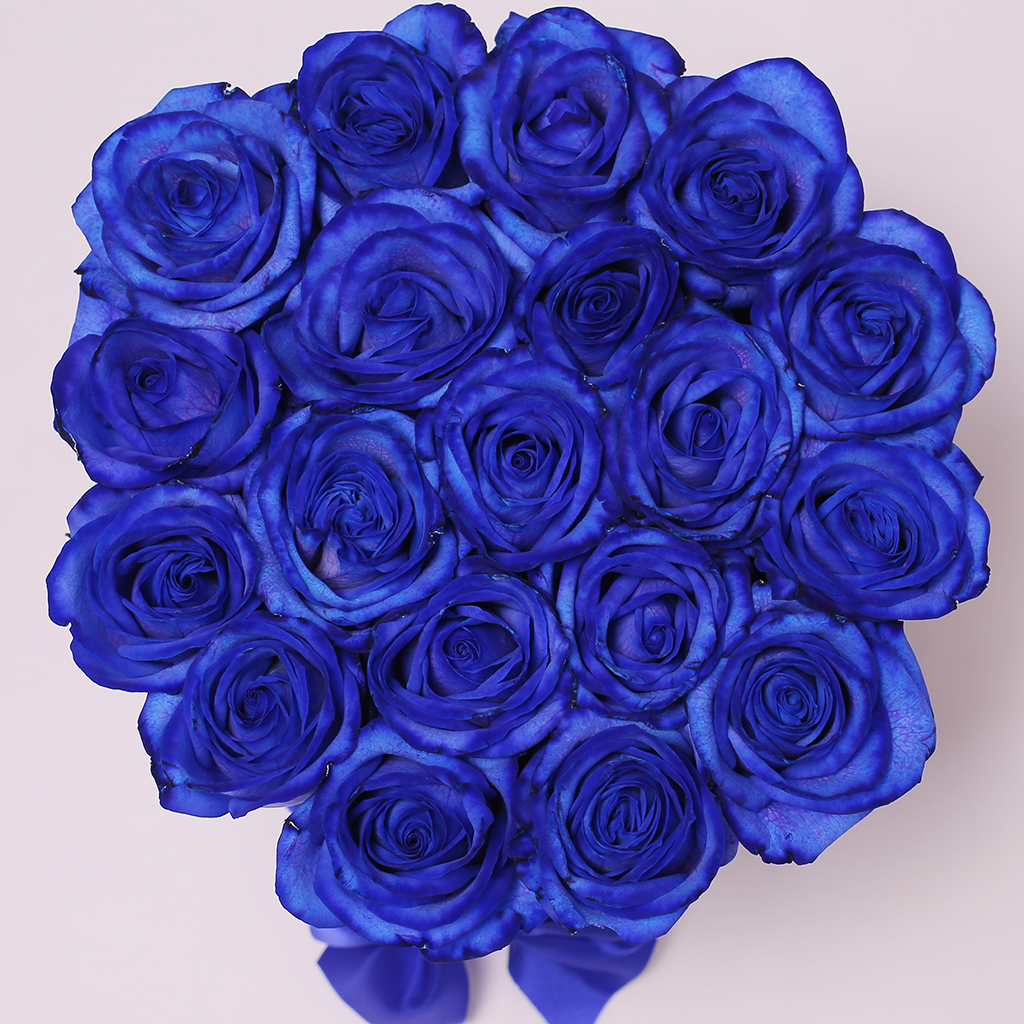 Mille Rose Collection - Small Box - Rose Blu - Scatola Nera
