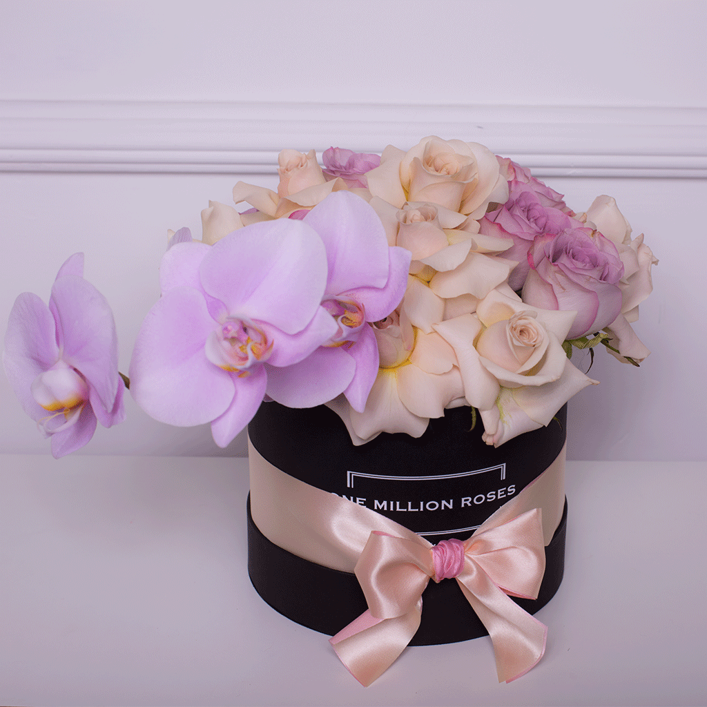 Mille Rose Collection - Small Box - Rose Mix e Ortensie - Scatola Nera