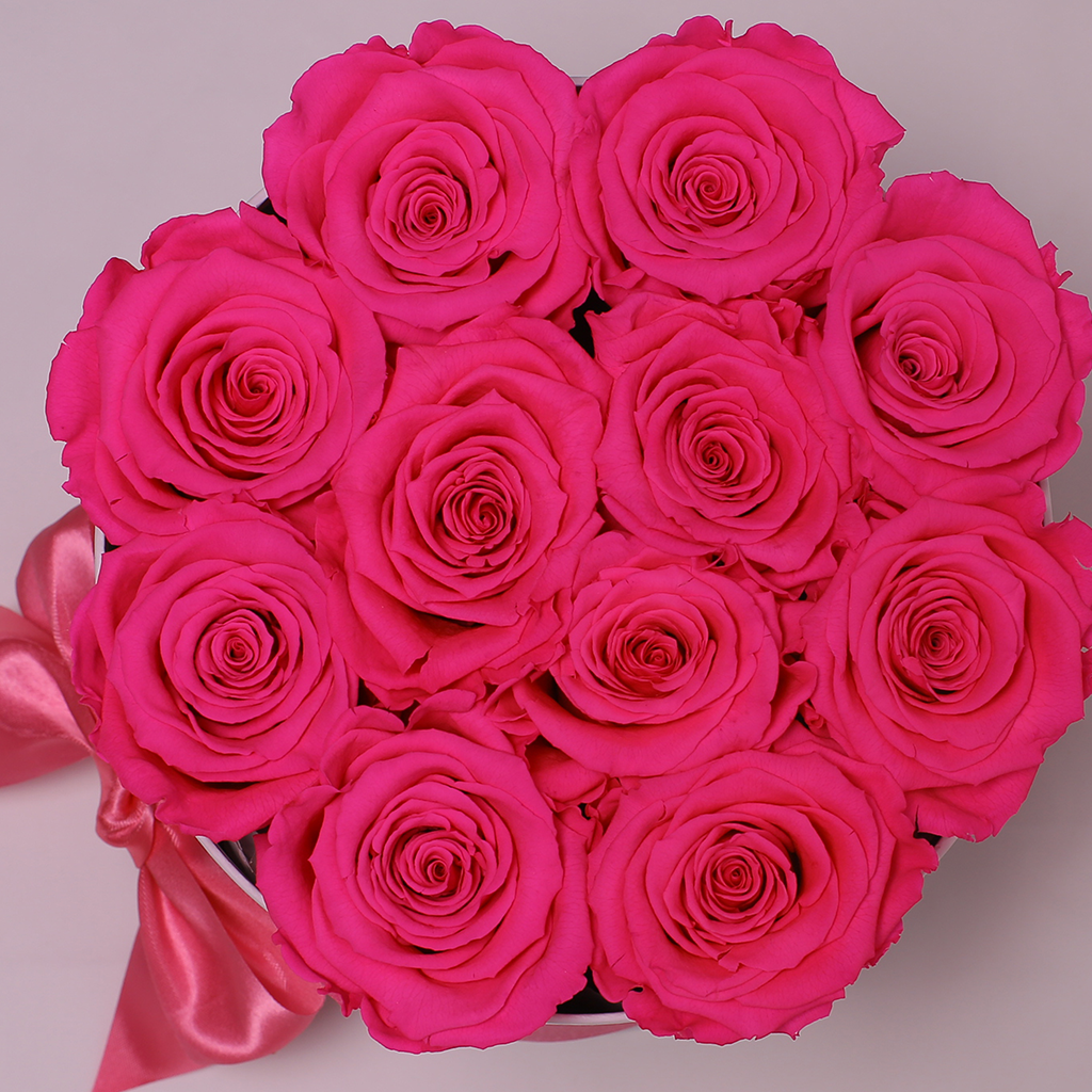 Senza Tempo - Mille Rose - Small Box - Rose Fucsia - Scatola Nera
