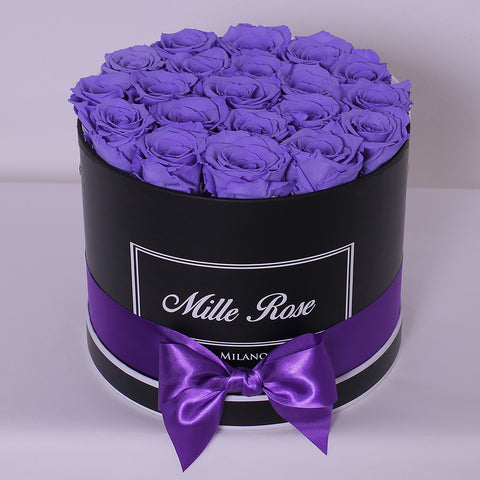 Senza Tempo - Mille Rose - Medium Box - Rose Lilla - Scatola Nera