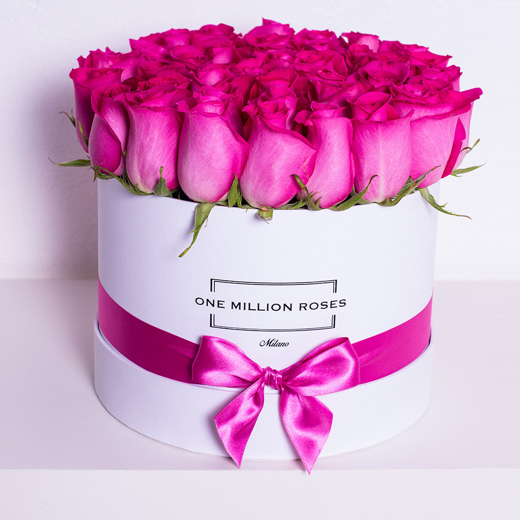 Classic Collection - Medium Box - Rose Fucsia - Scatola Bianca