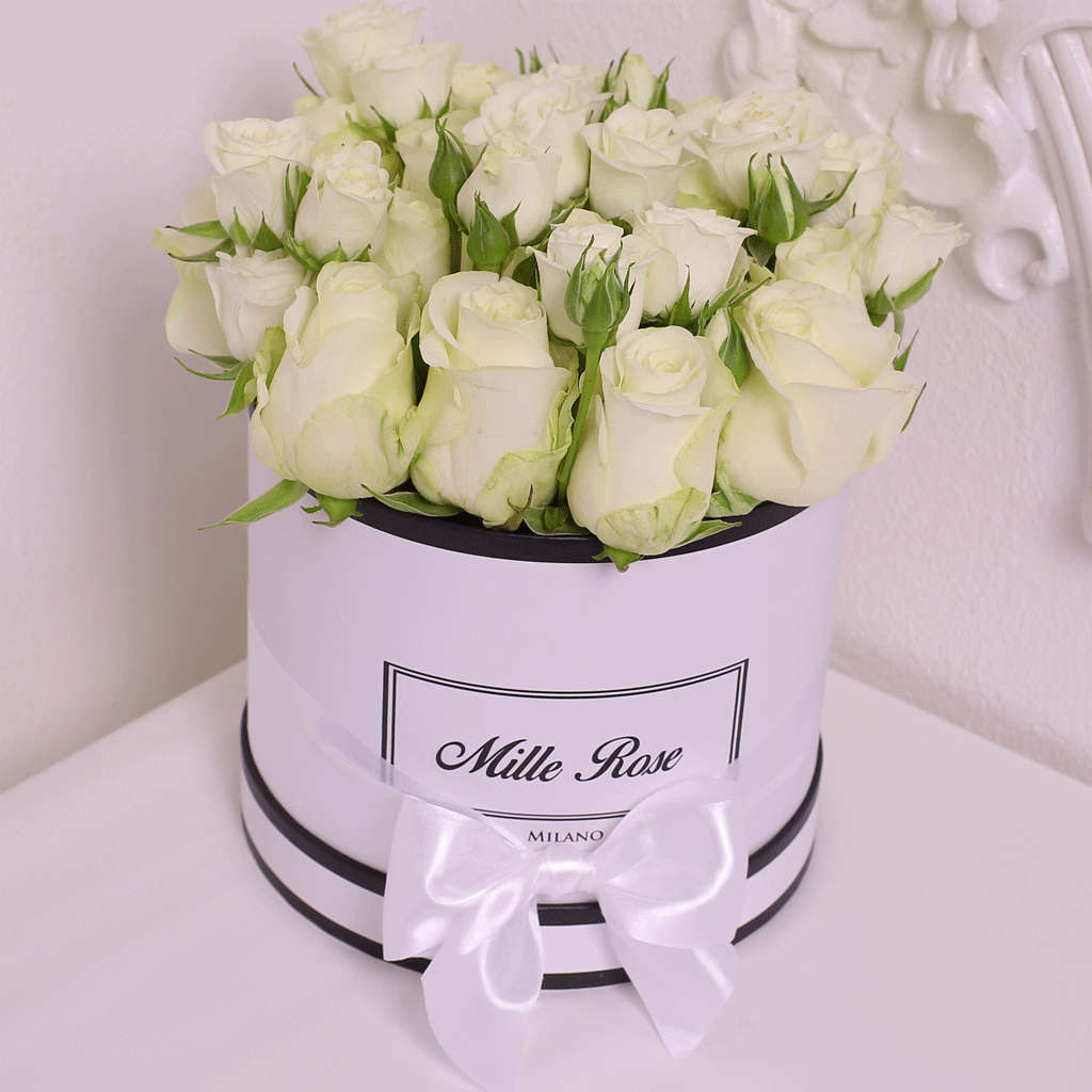 Mille Rose- Wedding Collection - Small Box - Rose Bianche - Scatola Bianca