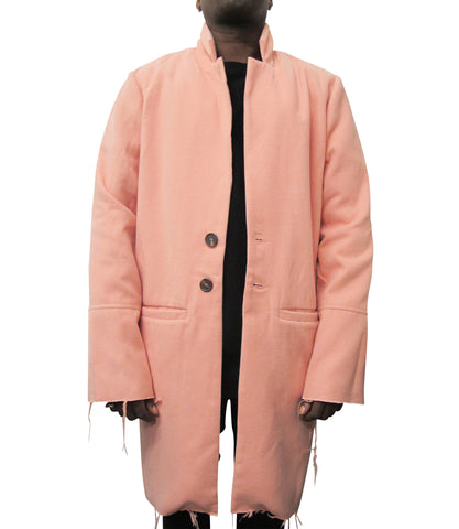 """BE YOUR OWN FUTURE"" WOOL COAT / PINK"