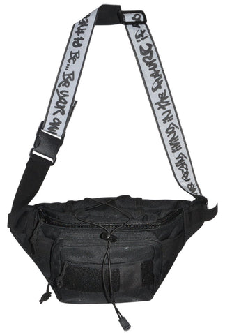 """GRAFFITI"" TAPE BUM BAG / BLACK"