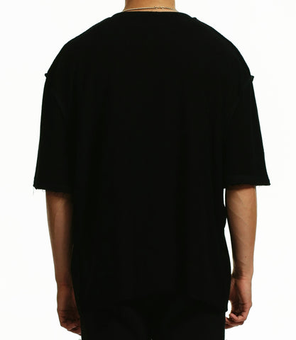 black graphic t-shirt