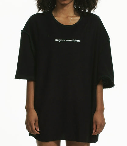 """BE YOUR OWN FUTURE"" WOMENS LOOPBACK OVERSIZED T-SHIRT"