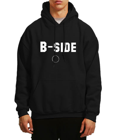 B-SIDE TEXT HOODIE / BLACK