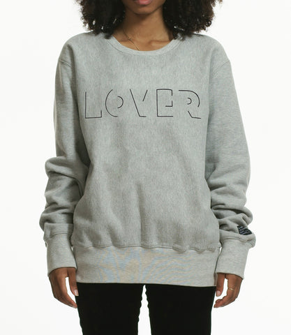 """LOVER"" SWEATSHIRT / GREY"