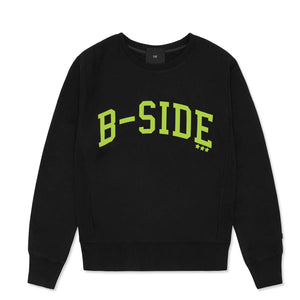WOMEN'S BLACK B-STAR CREW | GREEN LOGO | B-sidebywale