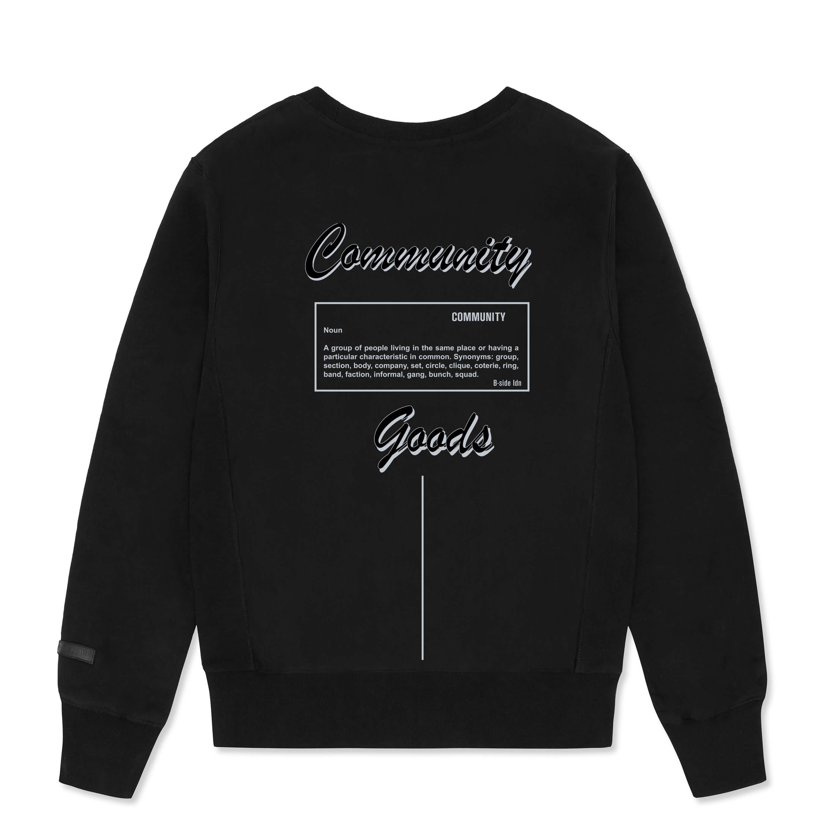 BLACK COMMUNITY HEAVY SWEAT | B-sidebywale
