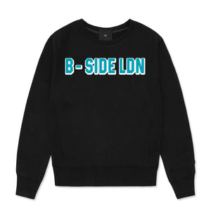 CREWNECK COMMUNITY HEAVY SWEAT | BLUE LOGO | B-sidebywale