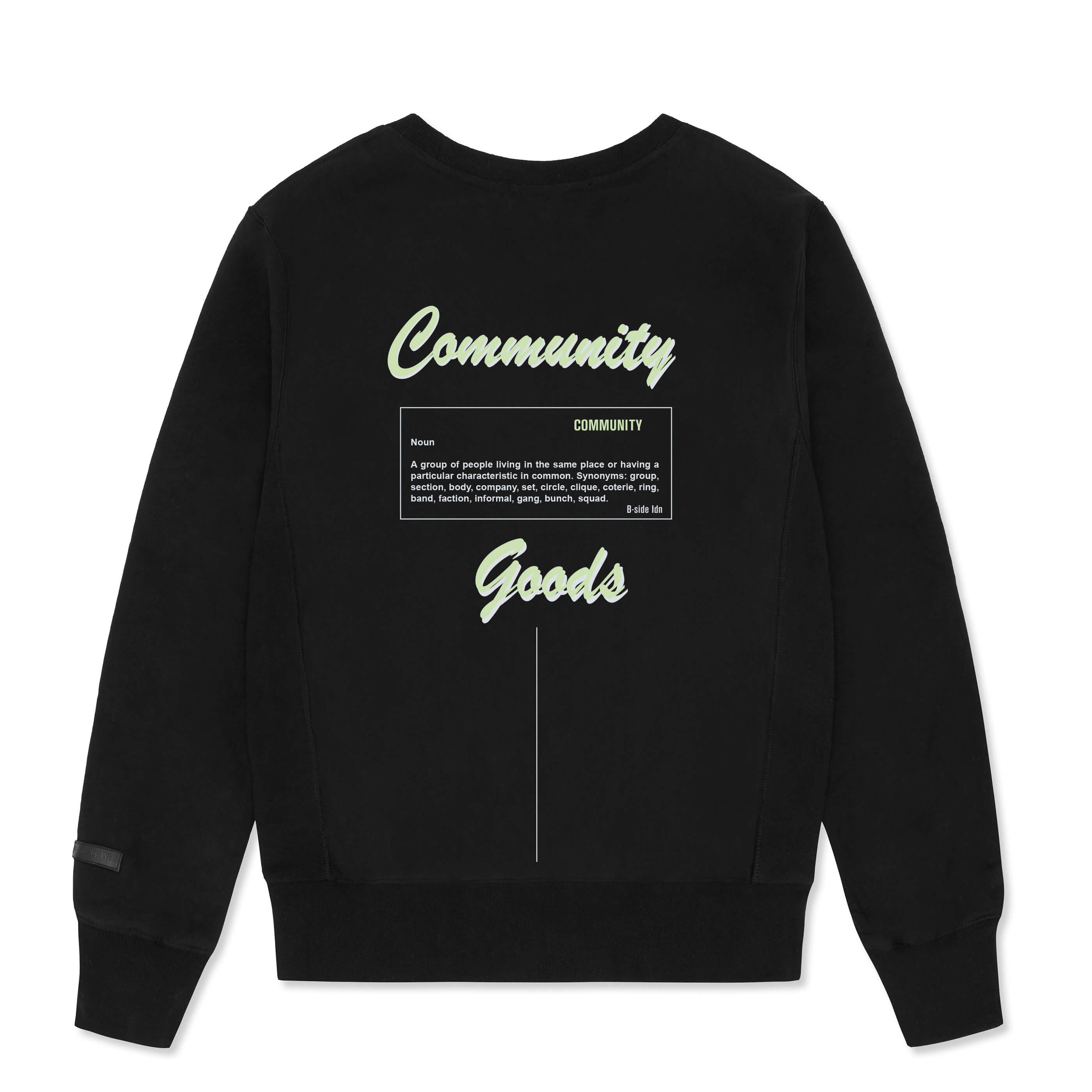 CREWNECK COMMUNITY HEAVY SWEAT | GREEN LOGO | B-sidebywale
