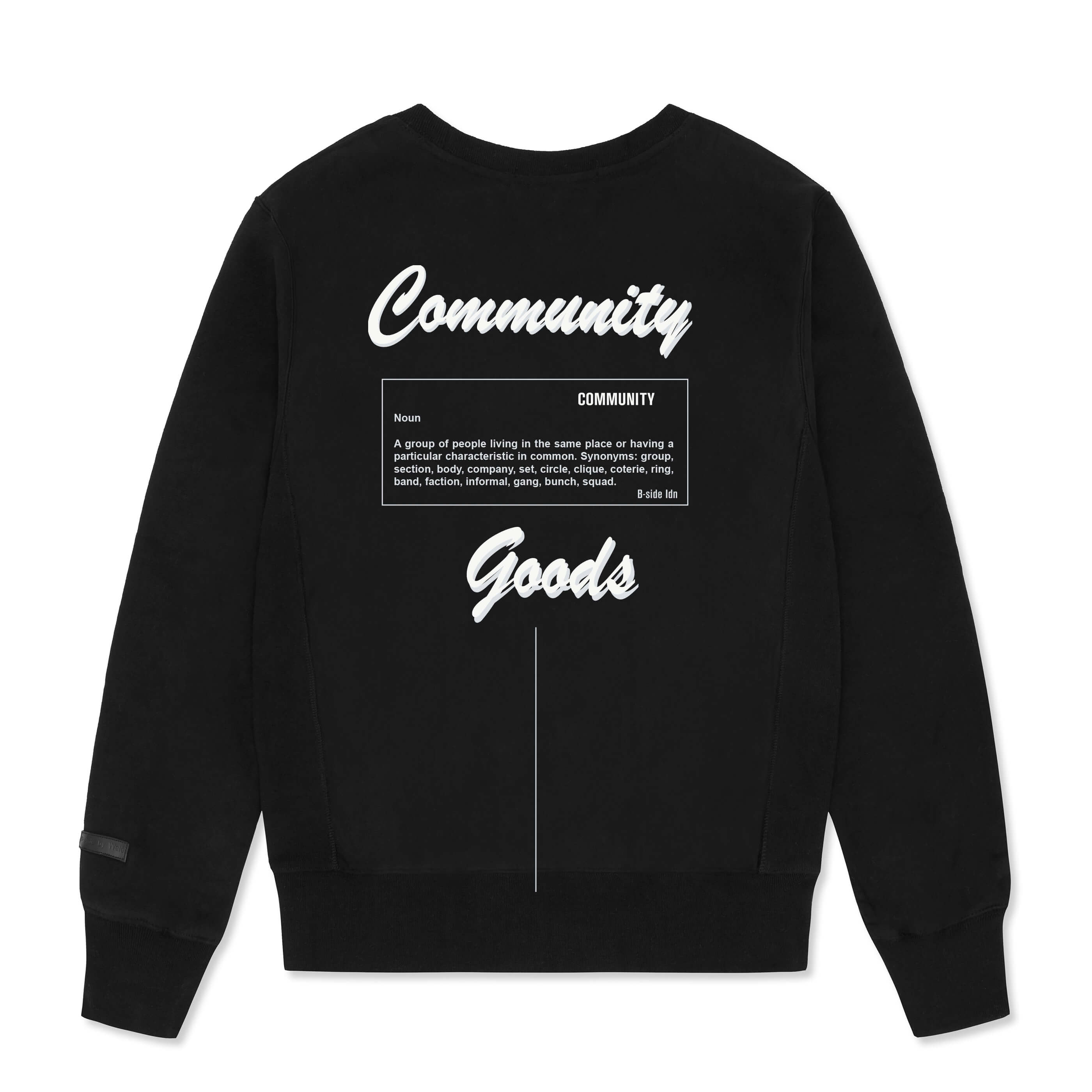 WOMEN'S CREWNECK COMMUNITY HEAVY SWEAT | GREY LOGO | B-sidebywale