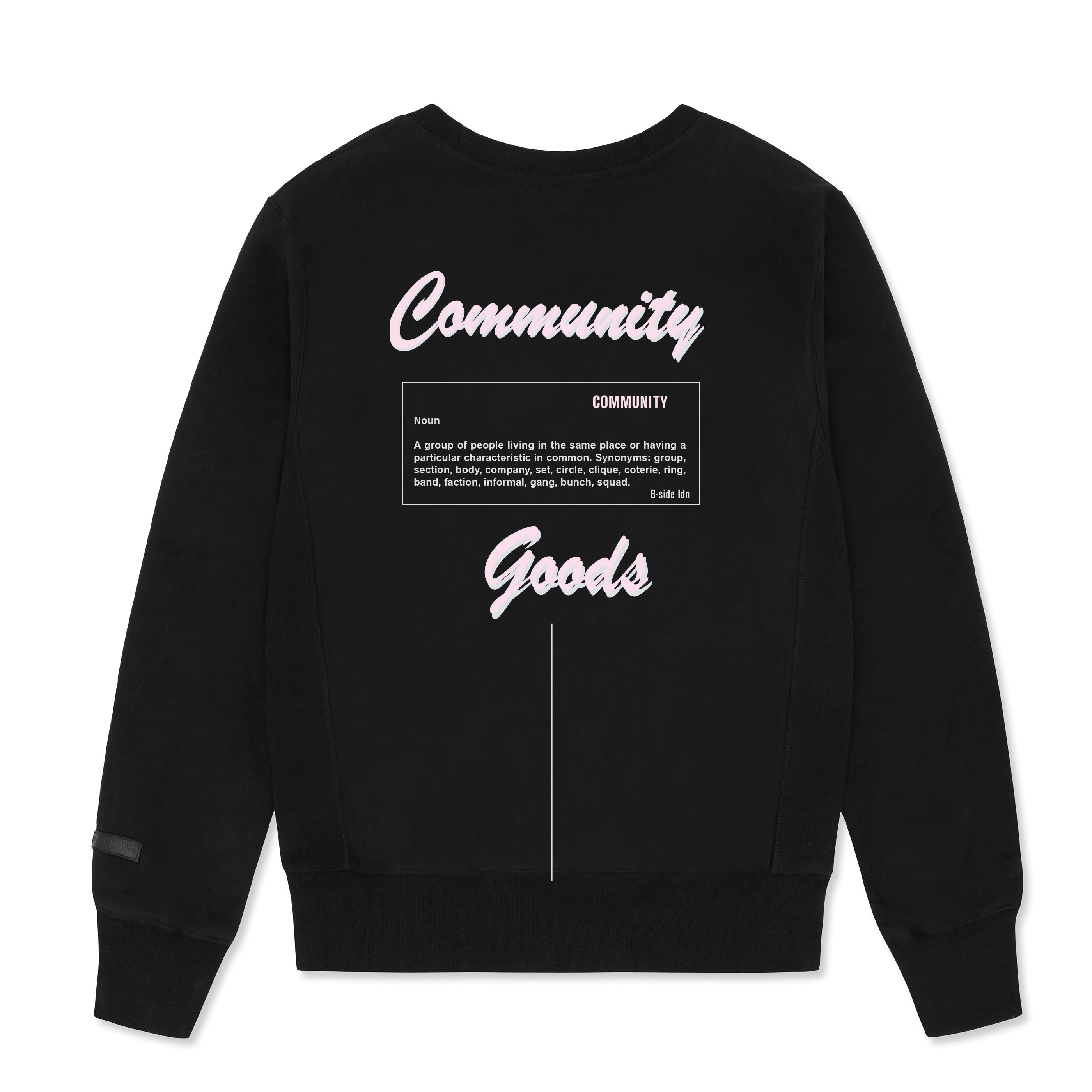 WOMEN'S CREWNECK COMMUNITY HEAVY SWEAT | PINK LOGO | B-sidebywale