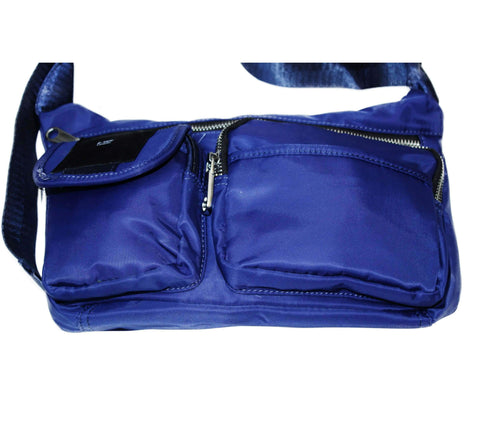 """b-side"" blue bag with logo feature by B-side By Wale"