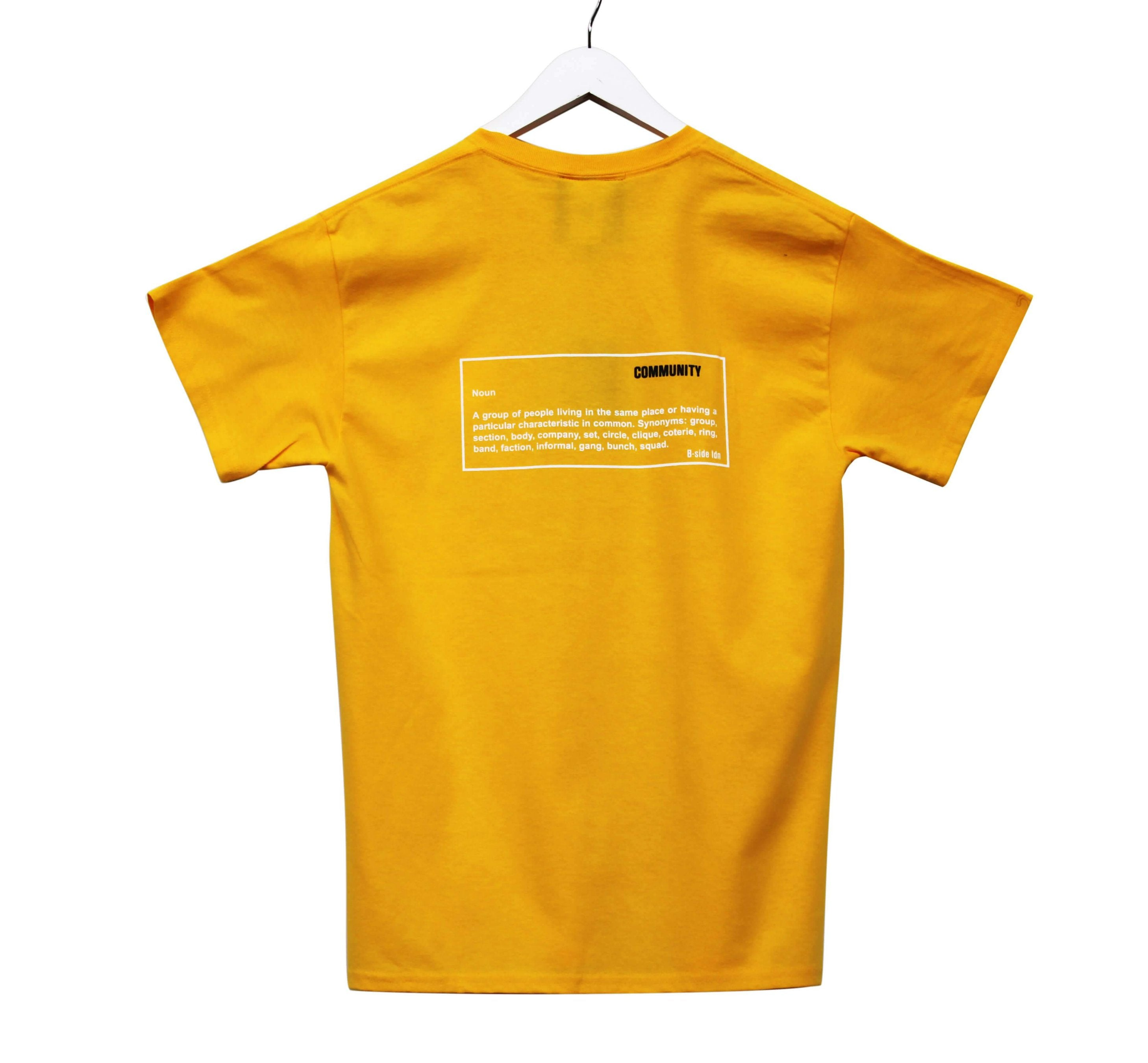 COMMUNITY T-SHIRT / YELLOW | B-sidebywale
