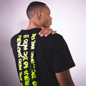 GRAFFITI MEDIUM WEIGHT T-SHIRT WITH PRINT ON BACK | B-sidebywale