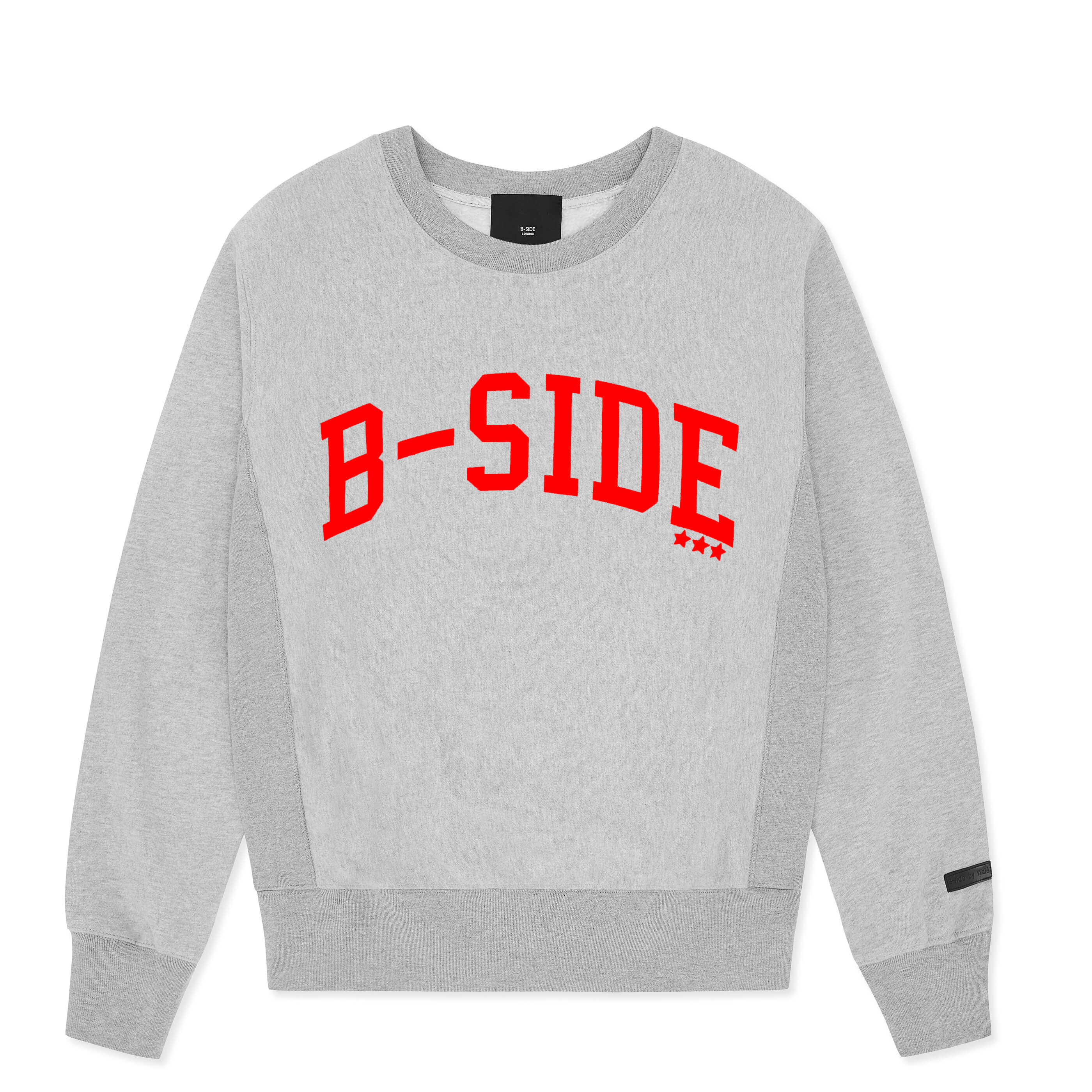 GREY B-STAR CREW | RED LOGO | B-sidebywale