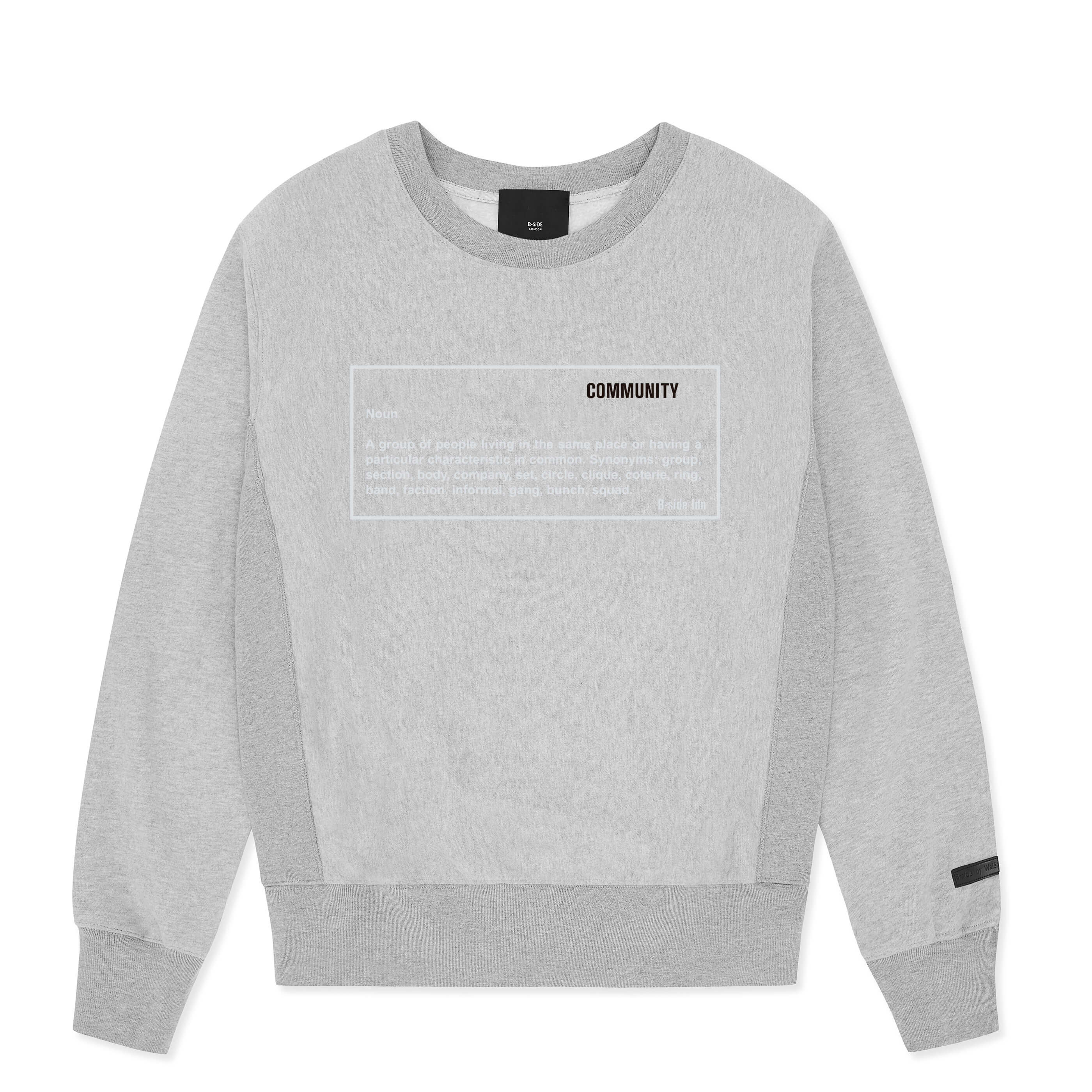 GREY COMMUNITY HEAVY SWEAT | B-sidebywale