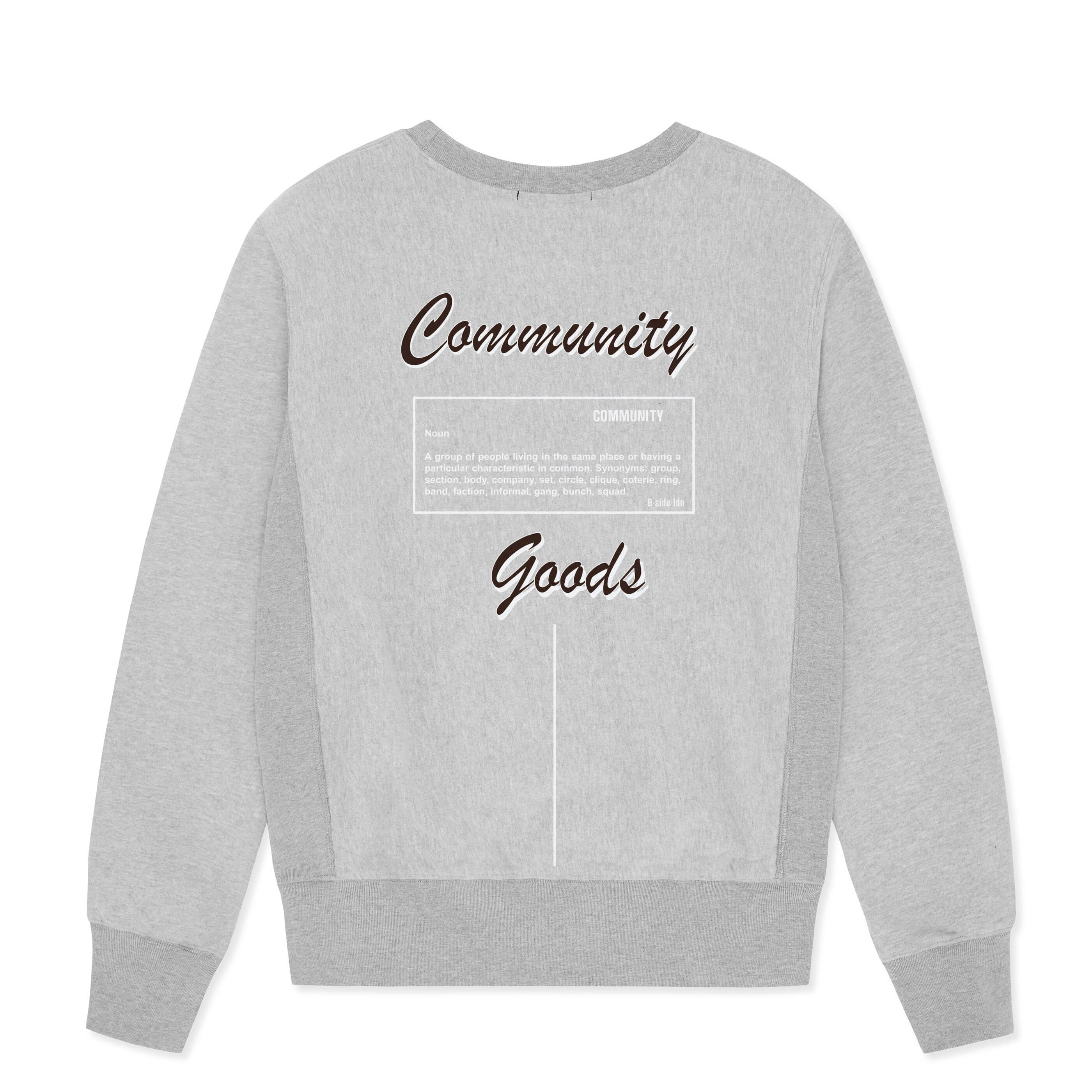 GREY CREWNECK COMMUNITY HEAVY SWEAT | B-sidebywale