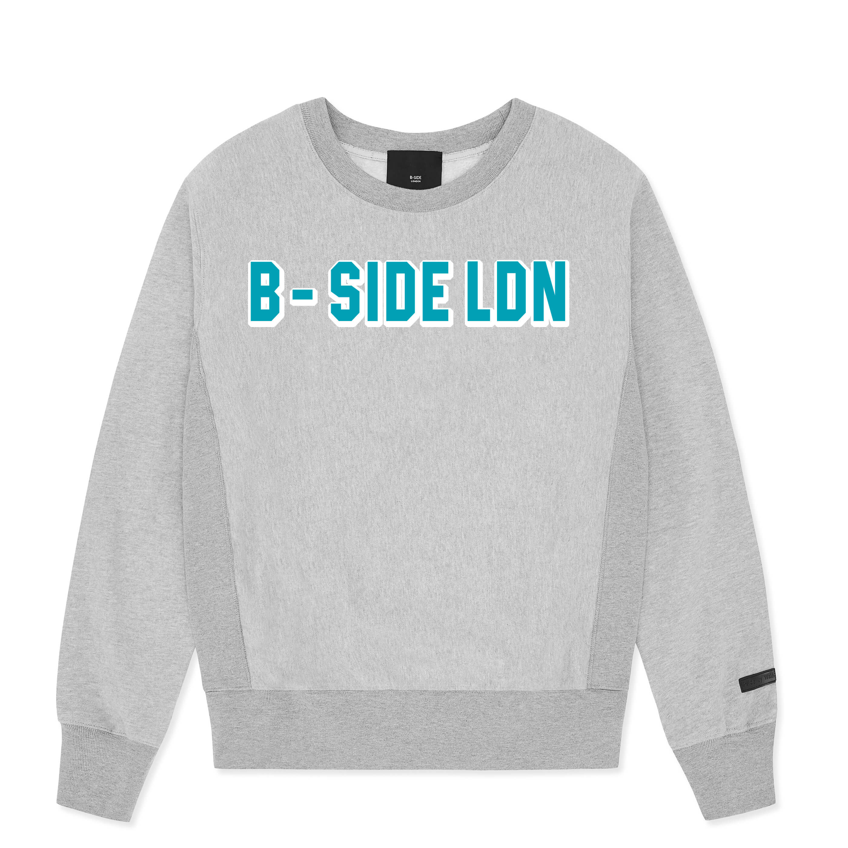 WOMEN'S GREY CREWNECK COMMUNITY HEAVY SWEAT | BLUE LOGO | B-sidebywale