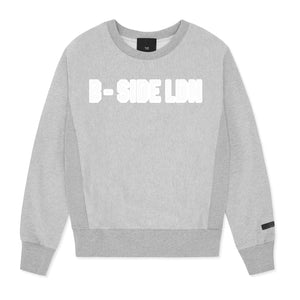 WOMEN'S GREY CREWNECK COMMUNITY HEAVY SWEAT | GREY LOGO | B-sidebywale