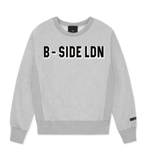 WOMEN'S GREY CREWNECK COMMUNITY HEAVY SWEAT | B-sidebywale