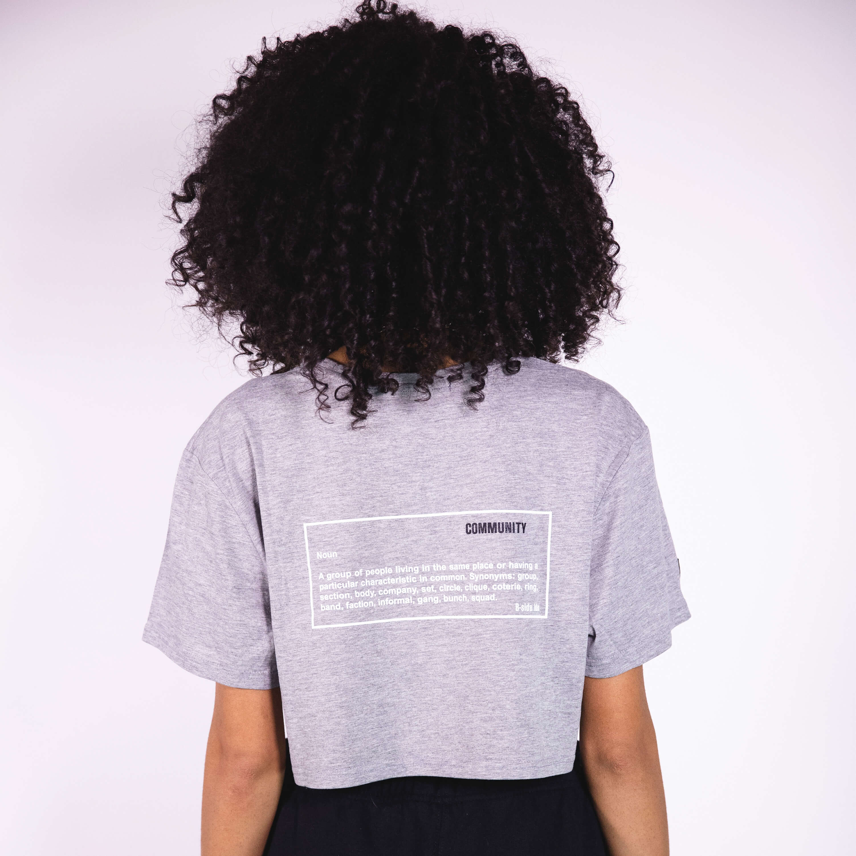 OG - WOMEN'S CROPPED / GRAY | B-sidebywale