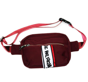 """B-SIDE"" RED BAG WITH LOGO FEATURE 