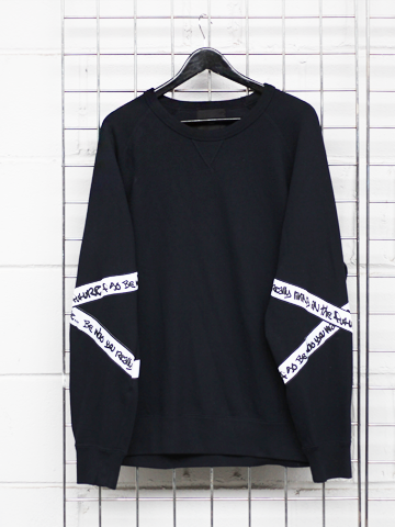 BLACK B-SIDE BY WALE SWEATSHIRT