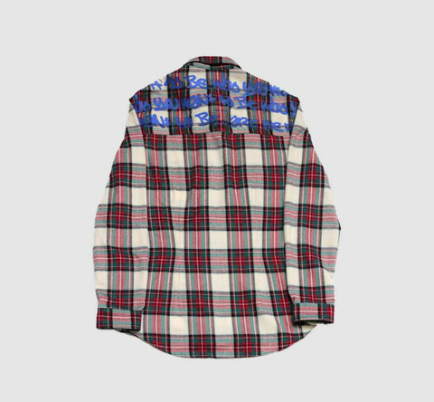 checked costume made shirt B-side By Wale