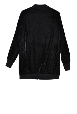 """BE YOUR OWN FUTURE"" VELVET BOMBER JACKET  / BLACK"