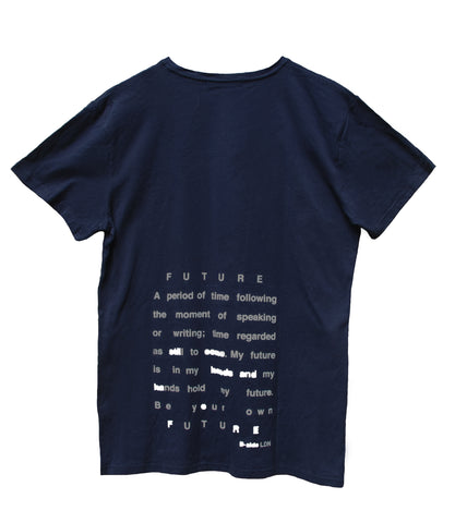 """BE YOUR OWN FUTURE"" PRINT T-SHIRT / NAVY"