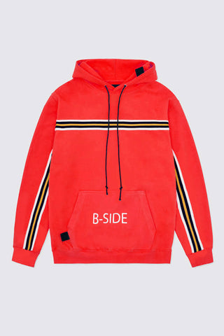 red b-side oversized hoodie
