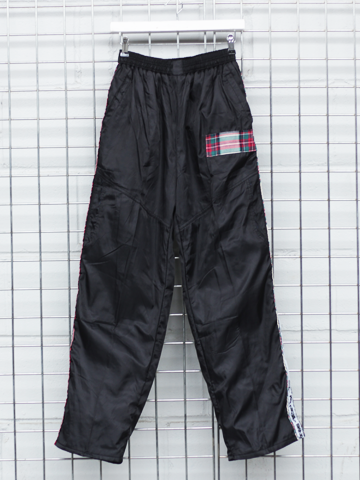 b-side by wale men's black joggers -back