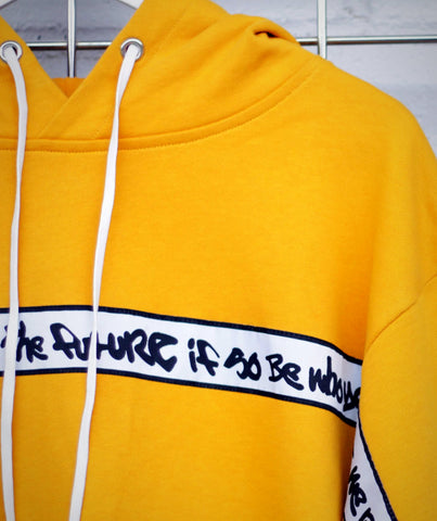 YELLOW COMMUNITY CREW NECK SWEATSHIRT | GRAFFITI TRIM