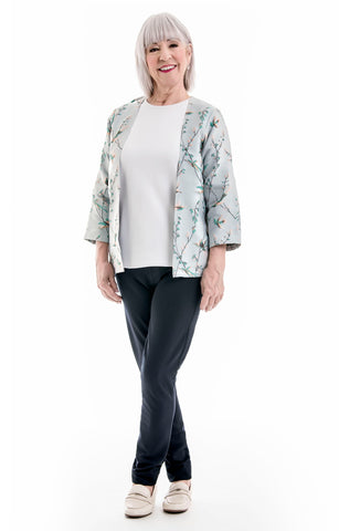 Floral Jacket with Connected Shirt