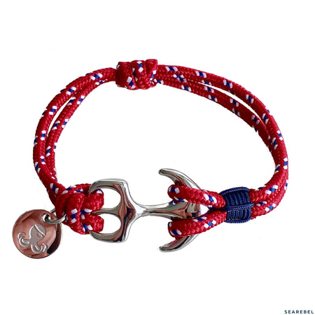 Searebel Shark (Silver Red Blue),  Armband unisex - searebel
