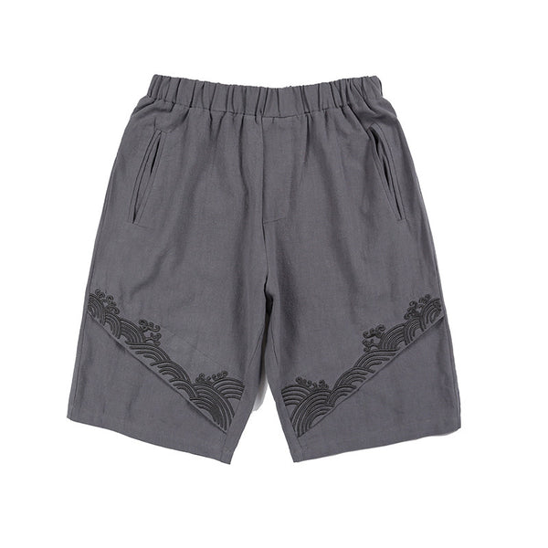 Cotton Embroidered Shorts